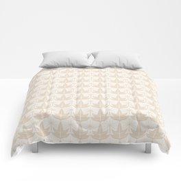 Two Leaves Pattern - color: Ivory Tower  Comforters