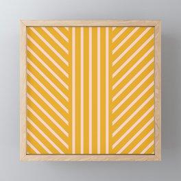 Lined Marigold Framed Mini Art Print
