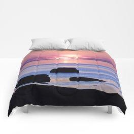 Saint-Lawrence River Sunset Comforters