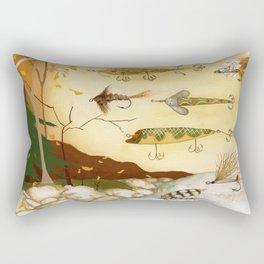 Fishing Tackle Rectangular Pillow