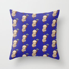Hold On Little Sloth Throw Pillow