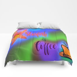 Starfish and Coffee Multi color Comforters