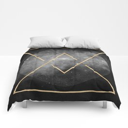 Gold Moon Geometric Tribal Design Comforters