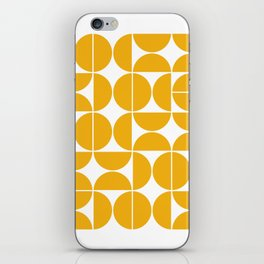 Mid Century Modern Geometric 04 Yellow iPhone Skin