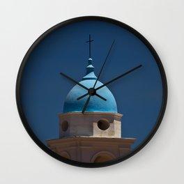 Blue dome, blue skies Wall Clock