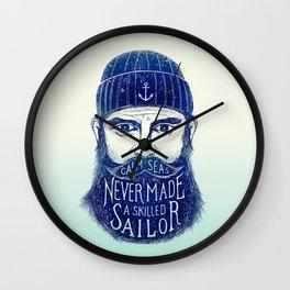 CALM SEAS NEVER MADE A SKILLED (Blue) Wall Clock