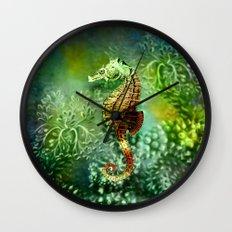 Seahorse Tropical Ocean Life Wall Clock