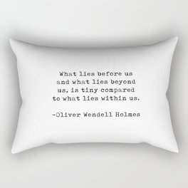 Typewriter Style Quote ((Oliver Wendell Holmes)) Rectangular Pillow