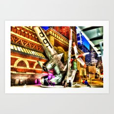 Philly Plane HDR Art Print