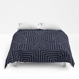 Mudcloth Indigo Comforters
