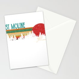 east moline Illinois Retro Vintage Custom Funny Stationery Cards