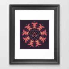 Purple and Orange Nature Mandala Framed Art Print