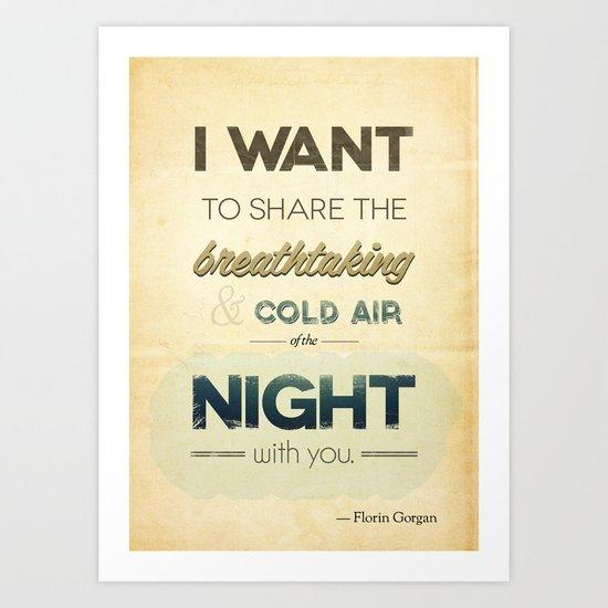 Air of the night Art Print