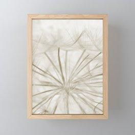 Dandelion Neutral Closeup Framed Mini Art Print