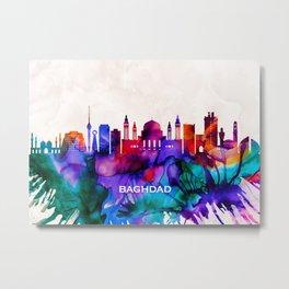 Baghdad Skyline Metal Print