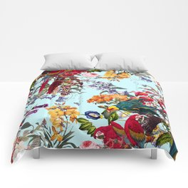 Floral and Birds XXXIV Comforters