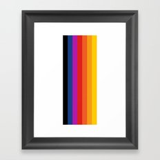 Retro Rainbow Framed Art Print