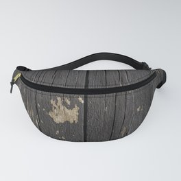 Black Wood Fanny Pack