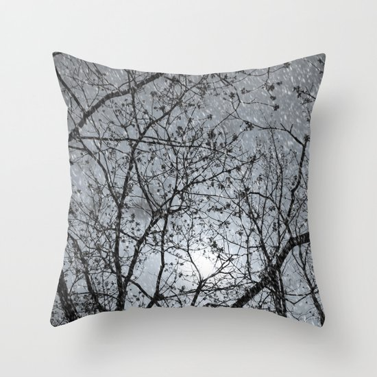 Oh Snowy Night Throw Pillow