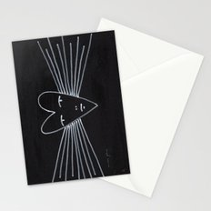 radiant heart Stationery Cards