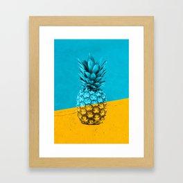 Pineapple Retro Framed Art Print