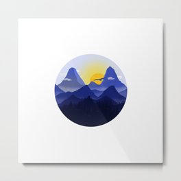 The sunrise and the blue hour Metal Print