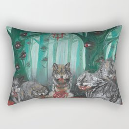 the trees saw everything Rectangular Pillow