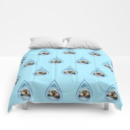 Sea Otter Drip Pattern Comforters