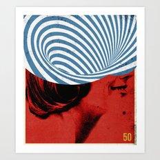 Cinquante | Collage Art Print