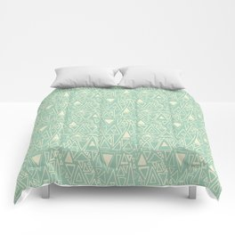 Chotic Angles in Teal by Deirdre J Designs Comforters