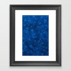 Sequin series blue Framed Art Print