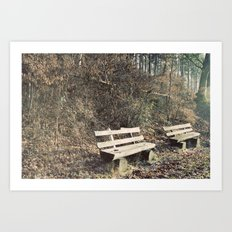 Strategically shaped logs Art Print