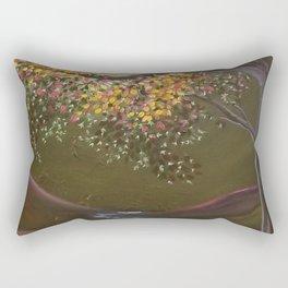 Moonlight Dance, tree and light art, moonlight, river valley Rectangular Pillow