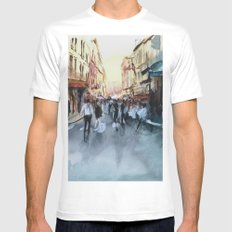 PARIS Mens Fitted Tee White MEDIUM