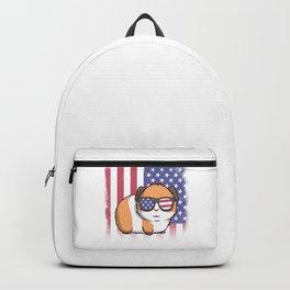 Merica Guinea Pig USA American Flag Backpack