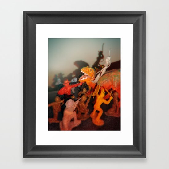 and that's why you don't time travel Framed Art Print