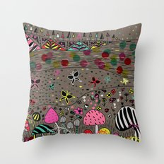 Mushroom Hill Throw Pillow