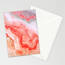 Luxury Rose Gold Agate Marble Geode Gem Stationery Cards