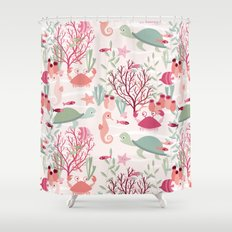 Life in the reef Shower Curtain