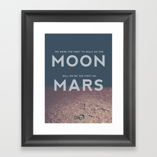 From the Moon to Mars Framed Art Print