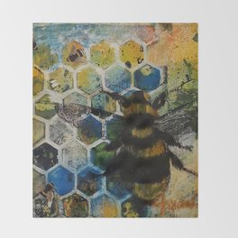 Bee Kind to One Another Throw Blanket