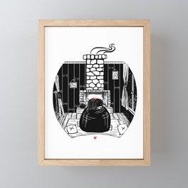 You keep me warm II Framed Mini Art Print