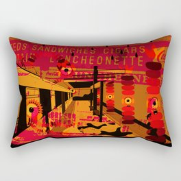 downtown train II Rectangular Pillow