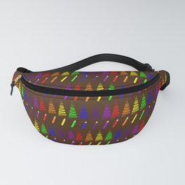 Rainbow Pencil Coloring Trees Fanny Pack