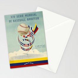 retro xiv serie mundial de baseball amateur caracas. 1953 Stationery Cards