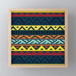 Aztec geometric pattern Framed Mini Art Print
