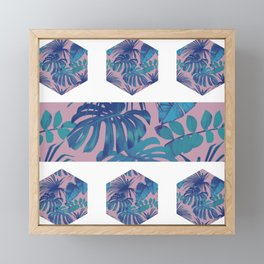 Botanical Hexagon Framed Mini Art Print