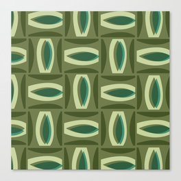 Alcedo - Green Canvas Print