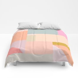 Pastel Geometric Graphic Design Comforters