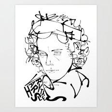 Typographic Harry Art Print